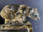 JOBLING ART DECO CLEAR TINTED PRESSED GLASS BEAR 1930s ETIENNE FRANCKHAUSER