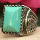 RARE 1950s NATIVE AMERICAN NAVAJO STERLING TURQUOISE THUNDERBIRD RING SZ 10 WOW