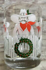 6 Vintage Cowboy Christmas Wreath Drinking Glasses Cocktail Lowball Holiday