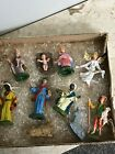 Lot of Vintage Nativity Set Pieces Made in Italy Original Box