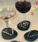 LOT 8 Attachable Flip Flop sandals Coasters for Foot Of Glasses WineCocktails