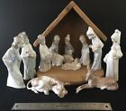 Lladro Nativity Set with Stable  Boxes