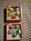 Liberty Bell Vintage Hand Painted Christmas Glass Ornaments in box no 0905 4620