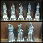 Vintage Reed  Barton 12 Days of Christmas Bells Silverplate Set of 8 w Booklet