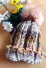 Fall Harvest Collection Handmade Knitted Toddler Beanie/Hat