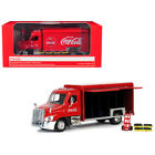 Beverage Delivery Truck Coca Cola with Handcart and 4 Bottle Cases 1 50 Diecast