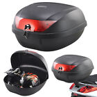 52L 2 Helmet Motorcycle Top Back Box Luggage Storage Motorbike Moped Universal