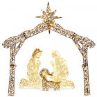 Lighted Christmas Nativity Scene Outdoor Decor LED Lights 6ft Mary Jesus Joseph