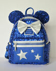 NEW Disney Parks Loungefly Backpack Wishes Come True Blue Silver New With Tags