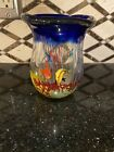 Murano Vintage Blown Glass Fish Vase