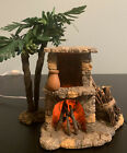 Fontanini Heirloom Nativity Lighted Stone Fireplace Retired Flickering VHTF