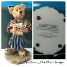 Boyds Bears JUSTINA THE CHOIR SINGER Special Edition #228324SYN Pre-owned