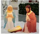28 Light up 3 piece Nativity Scene Holy Family Set Christmas Decoration Durable
