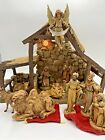 Vintage FONTANINI Lighted STABLE NATIVITY SET 14 Pc Lot 50154