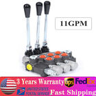 3 Spool P40 Manual Hydraulic Directional Control Valve 13GPM 3 8 1 2 BSPP