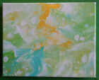 Acrylic Abstract Bubble Cells Multi Color Small Canvas Painting Original