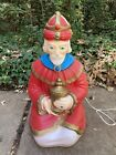 Vintage Empire Blow Mold Wise Man King Kneeling Lighted Nativity Christmas