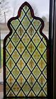 ANTIQUE GOTHIC STAINED GLASS CHURCH WINDOW FLEUR DE LIS ORCHIDS 1800s NYC AREA