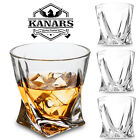Twisted Whiskey Glasses Gift Set Scotch Bourbon Glass Tumbler Cup Heavy 4 Pieces