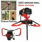 New 52cc Post Hole Digger Gas Powered Earth Auger Borer Fence Ground Drill3 Bit