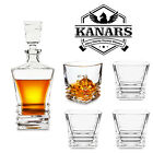 27oz Whiskey Decanter Set w 4 Crystal Glasses Gift for Birthday Fathers Day