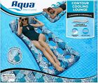 18 Pocket Inflatable Contour Lounge Luxury Fabric Suntanner Pool Float Heavy