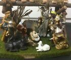 Kurt Adler Nativity Set 9 Figures plus Manger and Stable 11 pc  282 Box RARE