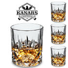 Old Fashioned Whiskey Glasses Whisky Tumbler 10 Oz Christmas Gift Pack of 4