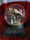Collectible 1992 Nativity Musical 8 Snow Globe plays Silent Night Beautiful