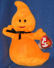 TY HAUNT the HALLOWEEN GHOST BEANIE BABY - MINT with MINT TAG (PRICE STICKER)