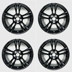 SET OF 4 BLACK 20 Staggered Wheels For BMW 5  7 Series OEM Quality 71379 71380