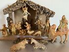 Vintage Nativity Scene Set Manger Christmas Made in Italy Plastic Resin Detailed