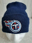 NFL GameDay Tennessee Titans Winter Hat Cap Cuffed Knit Beanie Navy Blue