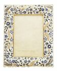 Jay Strongwater Florence Ruffle5x7in Frame Navy
