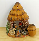 Vintage Ceramic Nativity Wall Table Decor by CABI Made in Peru