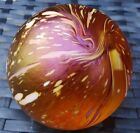 JOHN DITCHFIELD ISLE OF WIGHT UNKNOWN IRIDESCENT PAPERWEIGHT LARGE GOLD