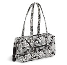 Small Travel Duffel Bag Carry On Purse Plane Luggage Carryall Flower Design Sack