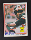 Eddie Murray Cards, Rookie Cards and Autographed Memorabilia Guide 21