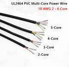 18 Awg Pvc Multi-core Power Wire Ul2464 Signal Control Cable 23456 Cores 80