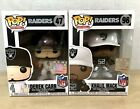 Funko Pop NFL Raiders Derek Carr Vinyl Figure 47 White Jersey Khalil Mack 96 Set