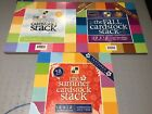 DCWV Lot 3 Cardstock 12 X 12 Paper Stacks Fall Spring Summer Textured White Core