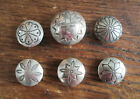 6 Vintage Navajo Indian Native Traditional Design Button Covers