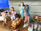 Vintage Nativity Set Christmas Manger Scene 14 Figures Made In Italy with Stable