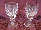 Waterford Kathleen Crystal Sherry Glasses Set of Two 2 Excellent