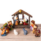 Christmas Nativity Scene Resin Figurines Ornament Set Home Church Decor