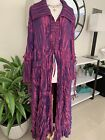 General Apparel Womens size XXL Trench Vintage Purple Iridescent Long Coat