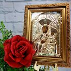 Vintage Madonna Child Mary Blessed Mother Gilt Frame Art Picture Catholic Altar