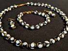 Vintage Venetian Murano Glass Millefiori Bead Necklace Bracelet  Earring Set