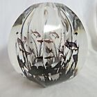 Orrefors Faceted Graal Fish Vase Sign Edward Hald Dated 1955 Rare brown color