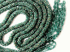 Art Deco Forest Green Glass Flapper Rope Necklace 60 long